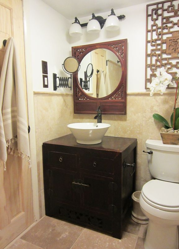 Bathroom asian style zen decor pinterest bathroom for Zen bathroom accessories