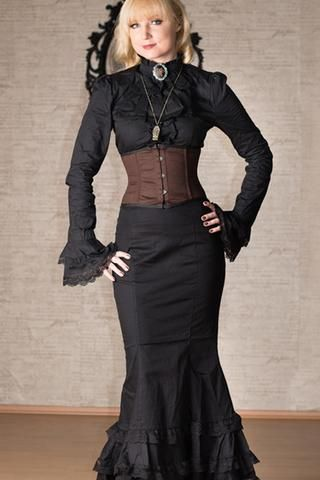 Dracula Lace Fishtail Skirt