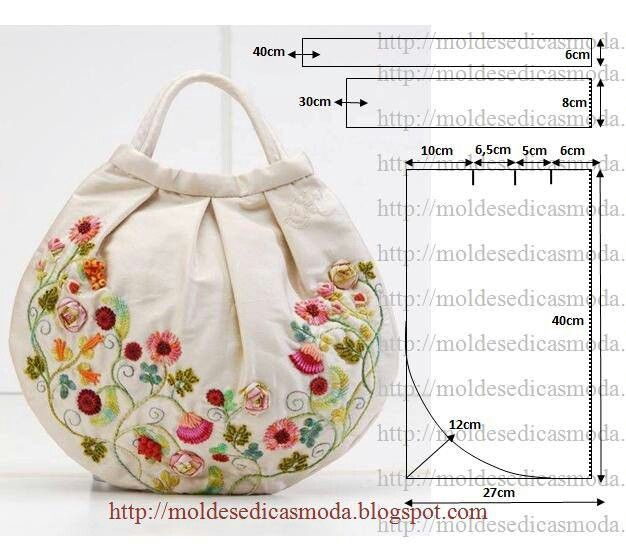 Bolso con flores