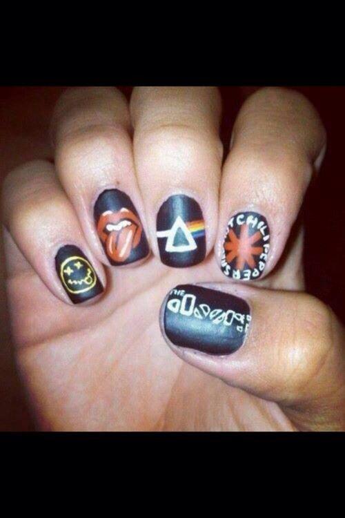 Mejores 9 imágenes de Emo nails en Pinterest | Uñas bonitas ...