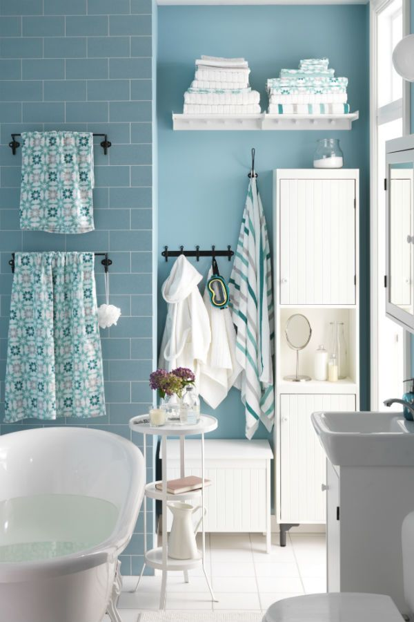 This Is An Easy And Fool Proof Bathroom Design. Subway Tile, White, And  Blue.