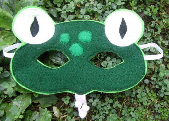 Felt Frog Mask by SevenFeathersTribe on Etsy, $18.00