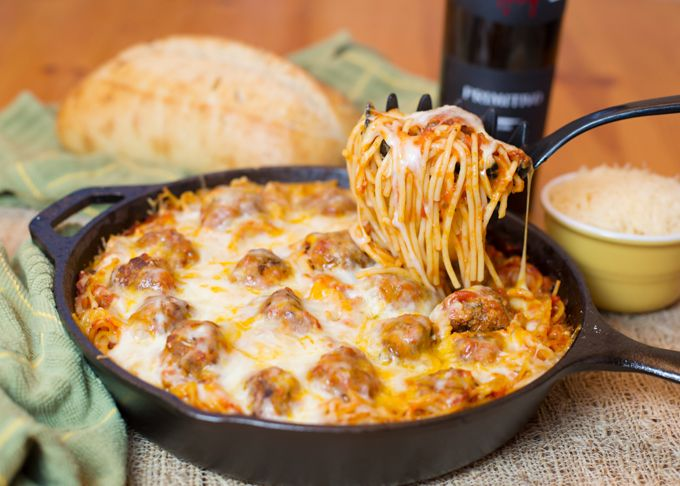 Baked Spaghetti & Meatballs is a perfect dish to cook up for a hungry family! It's hearty, delicious, easy to make, and budget friendly.