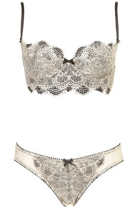 Double Eyelash Lace Underwire Bra and Thong - New In This Week  - New In  - Topshop