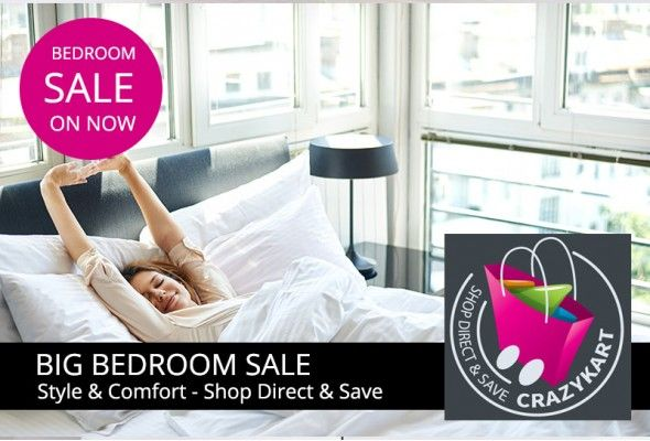 CrazyKart\'s Big Bedroom Furniture sale is on. Transform the look of your whole…