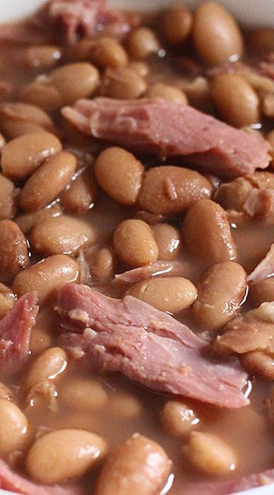 Crockpot Ham and Pinto Bean Soup
