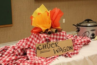 Cute Western-themed Blue and Gold banquet--including creative awards for leaders