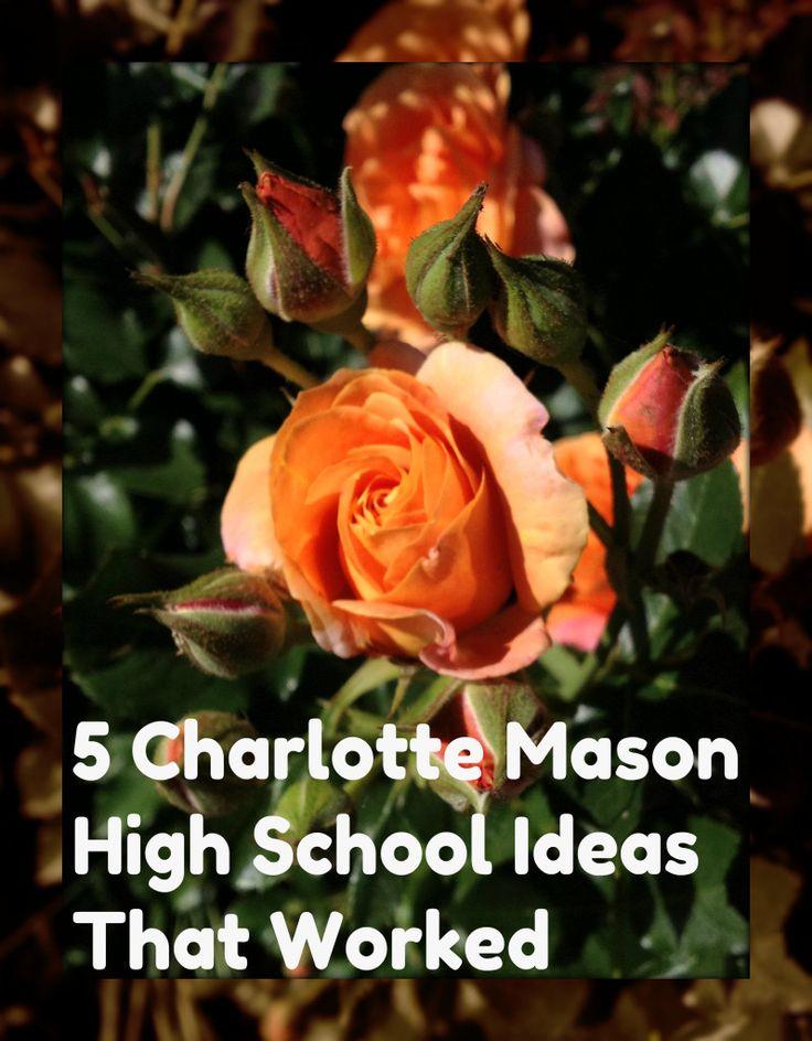 5 charlotte mason high school ideas