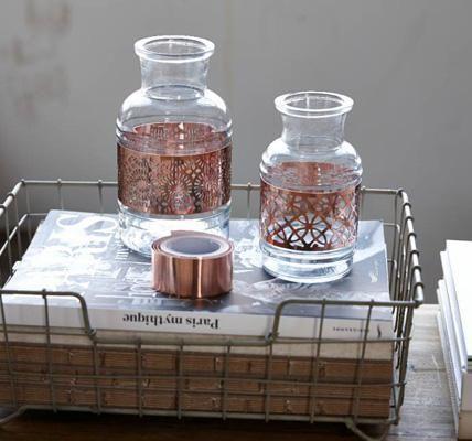 Vasen mit Kupferband von Hübsch Interior