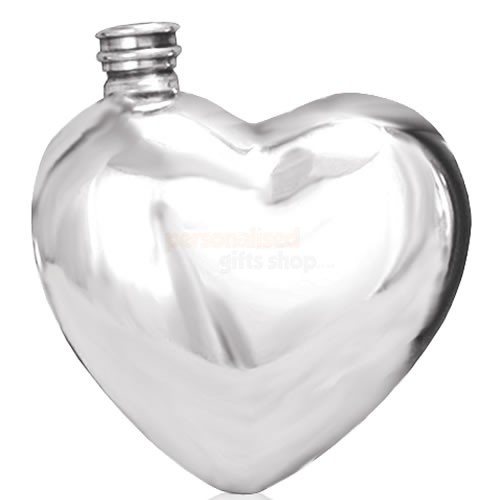 Personalised Heart Shaped Pewter Hip Flask  from Personalised Gifts Shop - ONLY £29.95