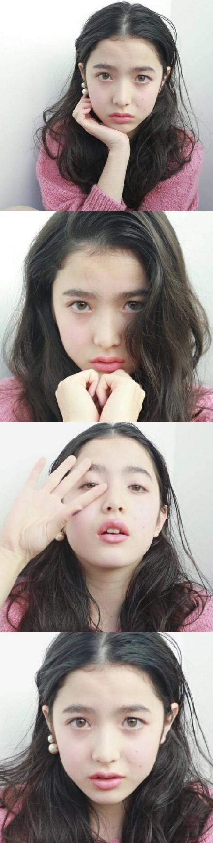 13岁日法混血小模特山田直美 - 复古老照片的微博_微博