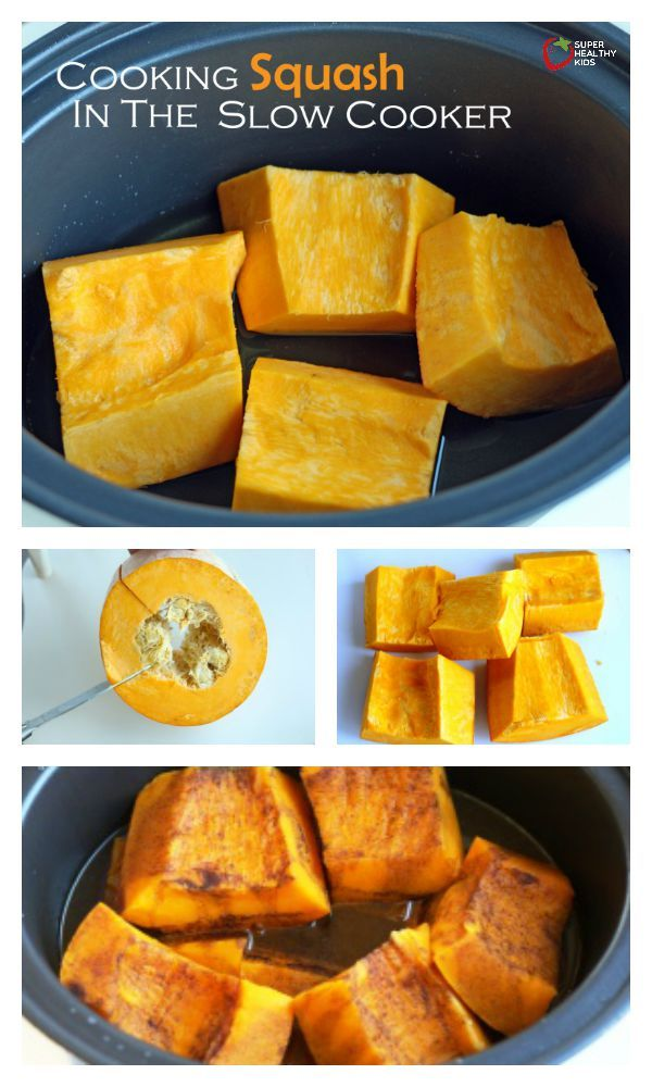 Cooking Squash in the Slow Cooker - Did you know cooking squash could be so simple? http://www.superhealthykids.com/cooking-squash-in-the-slow-cooker/