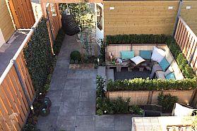kleine tuin lounge