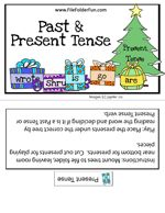 Verb Tense File Folder Game