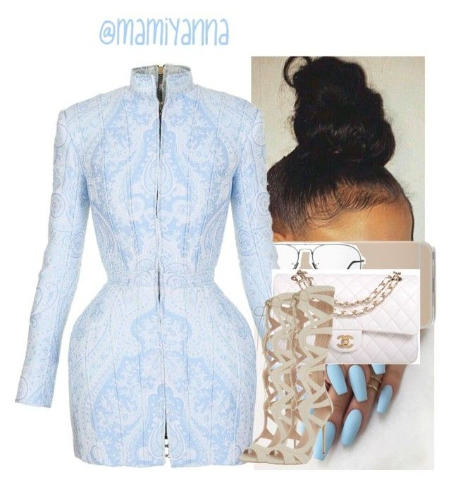 """Me,Myself,&I~ Beyoncé "" by mamiyanna on Polyvore featuring Ray-Ban, Balmain, Chanel and Carvela"