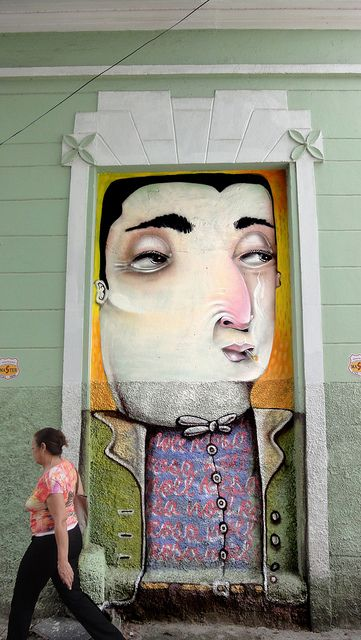Painted door Noel Rosa by Davi de Melo Santos (aka DMS). Belo