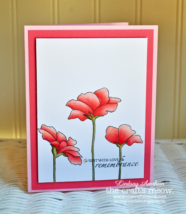 Hope Blooms stamp set from The Craft's Meow