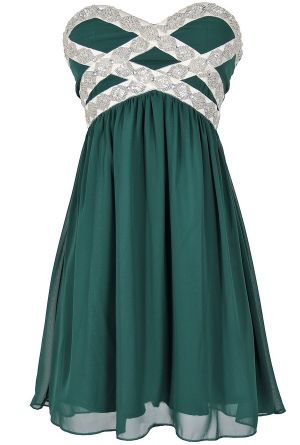 Emerald beaded dress