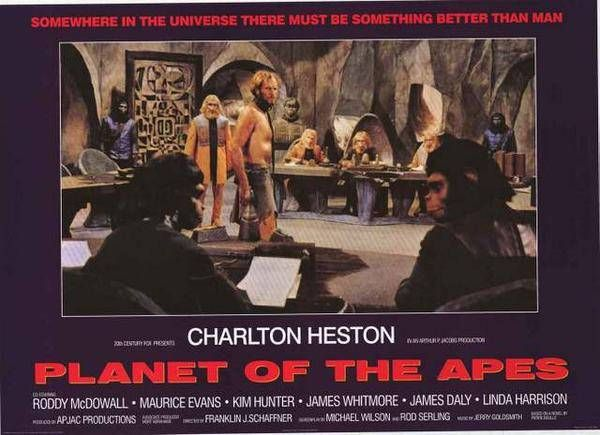 Planet Of The Apes Charleton Heston Rare Vintage Poster