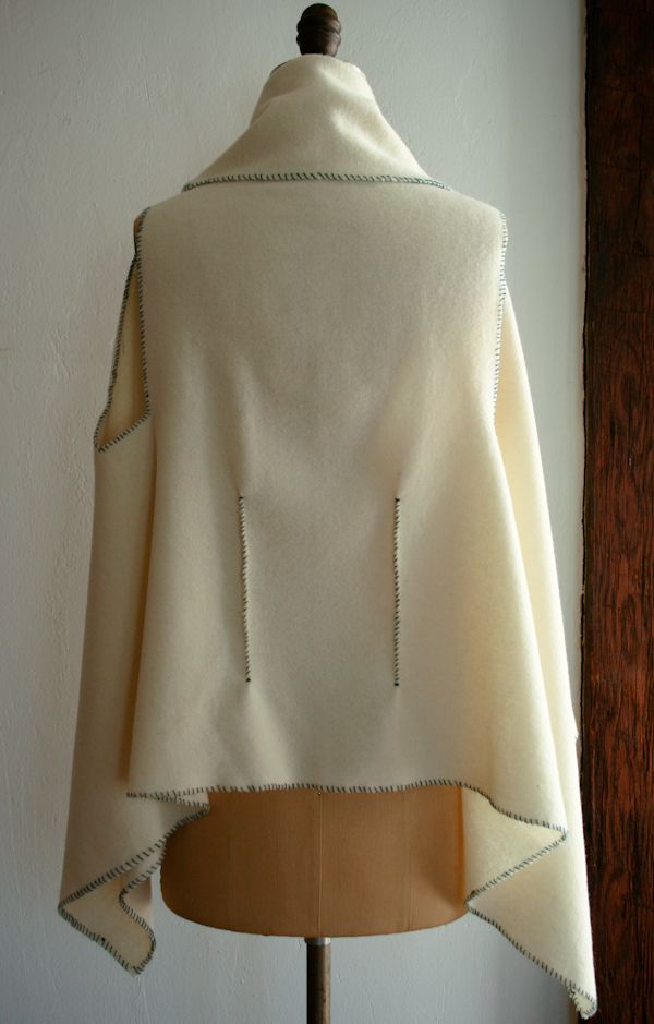 Beautiful felted wool vest from just one yard: http://www.purlbee.com/the-purl-bee/2012/4/1/lauras-loop-felted-wool-vest.html