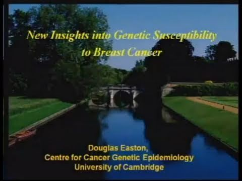2010 AACR  Frontiers in Cancer Prevention Research: Dr. Douglas Easton - WATCH VIDEO HERE -> http://bestcancer.solutions/2010-aacr-frontiers-in-cancer-prevention-research-dr-douglas-easton    *** cancer prevention research center ***   Plenary Session 2: New Approaches to Identifying High-risk Populations New insights into genetic susceptibility to breast cancer Douglas  Easton, Ph.D.,  University of Cambridge, Cambridge, United Kingdom Video credits to the YouTube channel o