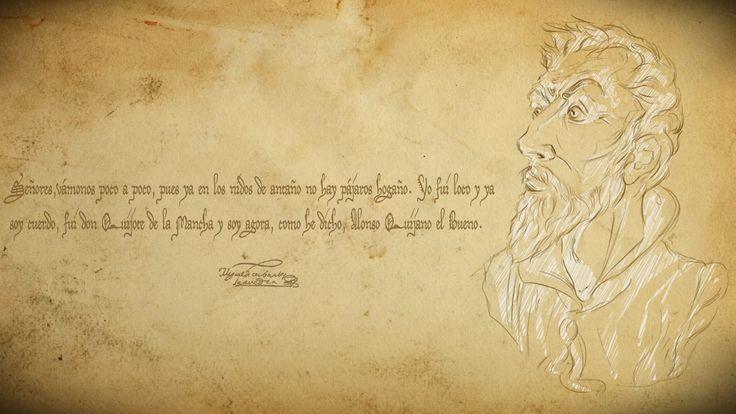 La obra maestra de la Literatura Castellana, escrita por Don Miguel de Cervantes Saavedra.