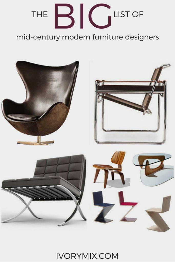25 Best Ideas about Mid Century Modern Furniture on Pinterest