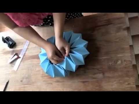Easy D.I.Y. Origami (Paper) Lampshade by jeedwonder workshop. Jeedwonder Co.,Ltd. Workshop Planer & Organizer. D.I.Y. idea.