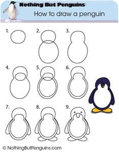 How to draw a penguin. Great activity for after reading The Emperor's Kingdom. PENGUINS, PENGUINS, PENGUINS, PENGUINS, PENGUINS.