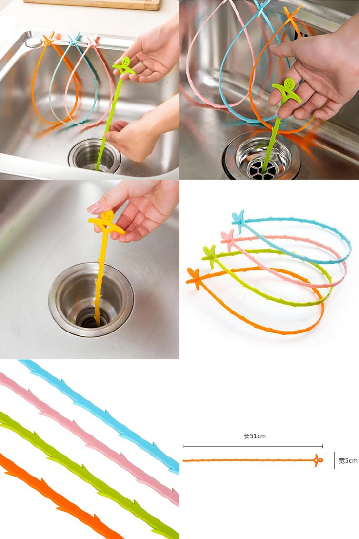 [Visit to Buy] New Kitchen Snake Fixed Sink Tub Pine Drain Cleaner Bathroom Shower Toliet Slow Removal Clog Hair Tool Dredge tools #Advertisement