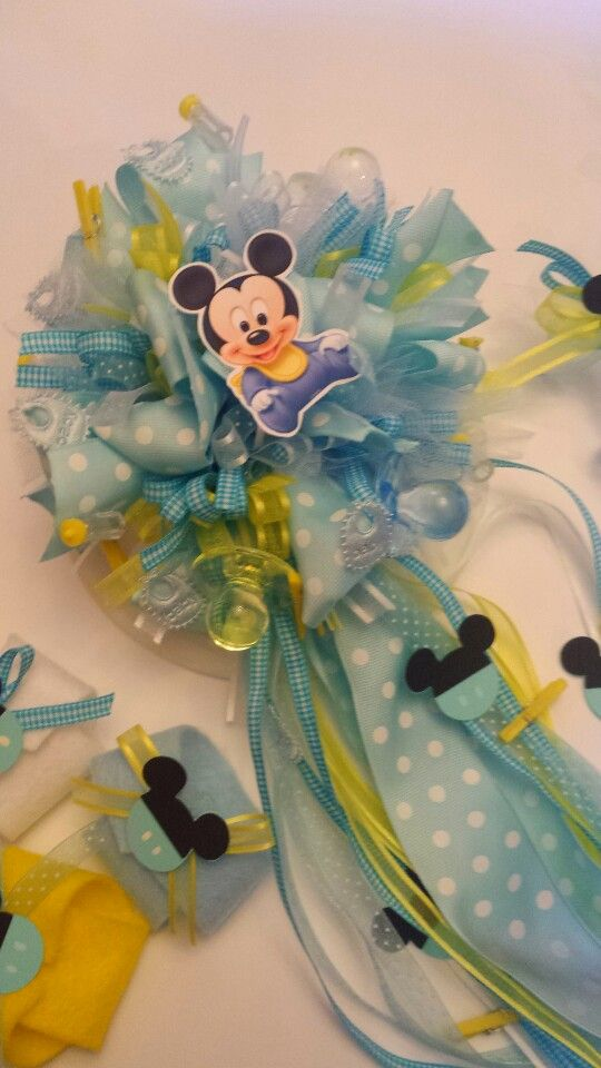 baby shower pins corsage pinterest mickey baby showers baby