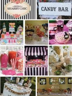 35 best candy bar images on pinterest birthdays candy - Salones estilo shabby chic ...