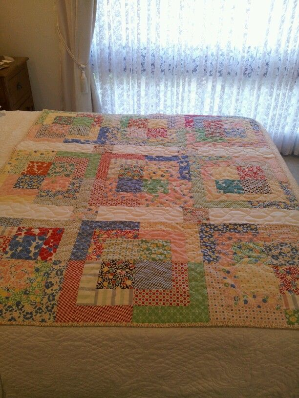 My Hello Betty charm square quilt