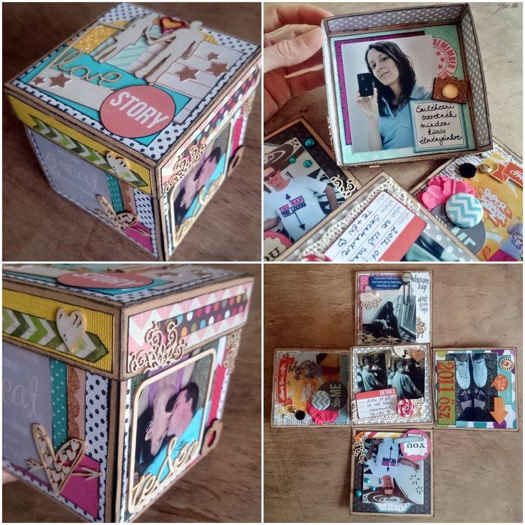 Dobozalbum saját részre - exploding box with my own photos