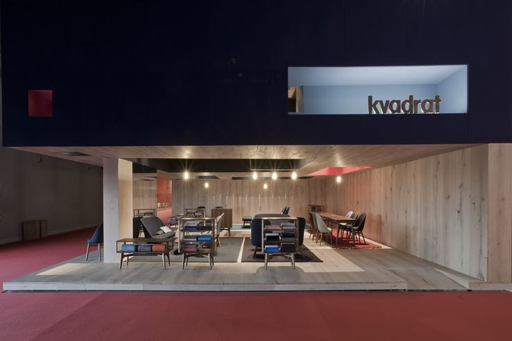 Kvadrat's stand designed by design duo Neri&Hu