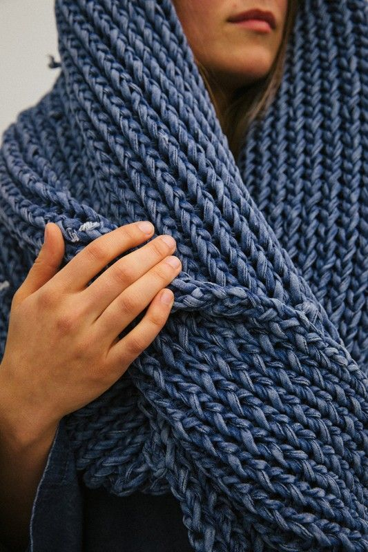 Knitted denim at 69 Worldwide AW15 NYFW. See more here: http://www.dazeddigital.com/fashion/article/23708/1/69-worldwide-aw15