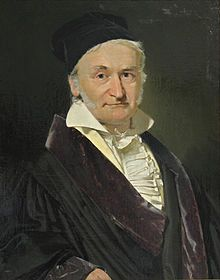 """Carl Friedrich Gauss 1840 by Jensen (Wiki) - developed number theory, elliptic functions, & zeta function (regarding distribution of prime numbers); known as """"Prince of Mathematics"""""""
