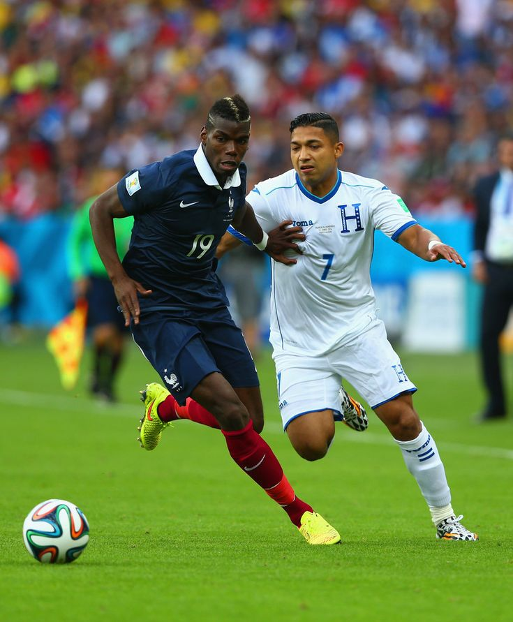 Paul Pogba of France against Honduras in the 2014 World Cup