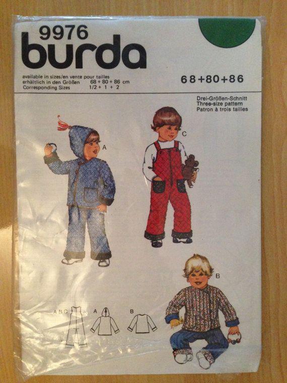 Burda Sewing Pattern 9976 80s Childrens Hoded by SplashOfLuv