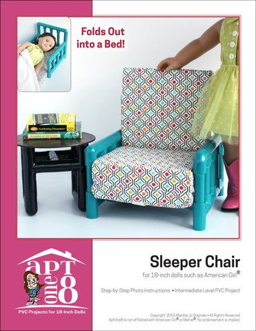 Sleeper Chair plus Bonus Side Table PVC Pattern