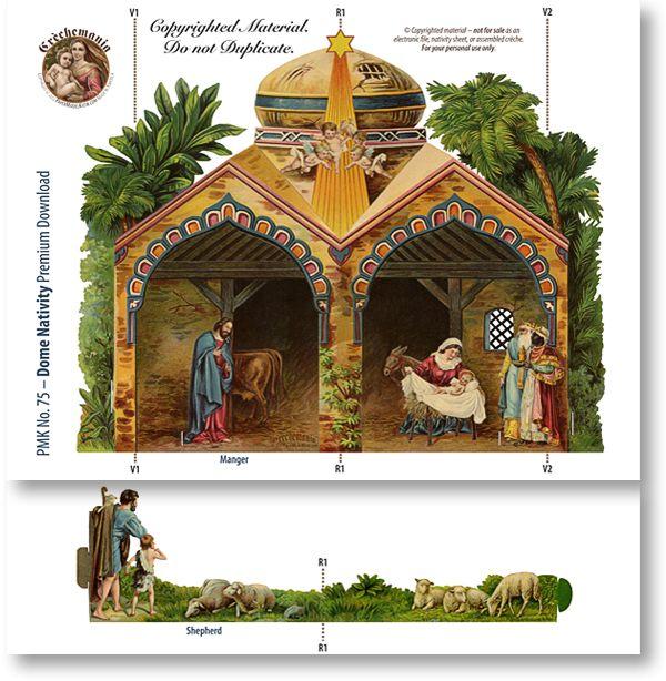 Dome Nativity Combo - PaperModelKiosk.com http://www.papermodelkiosk.com/shop/item-detail.php?item_id=677_id=125#item