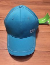 Hugo Boss Baseball Hat Cap Logo NWT Light Blue Adjustable