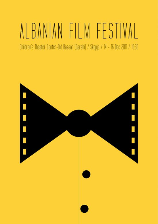 Albanian Film Festival 2011 (Poster) by Tabi Aziri, via Behance