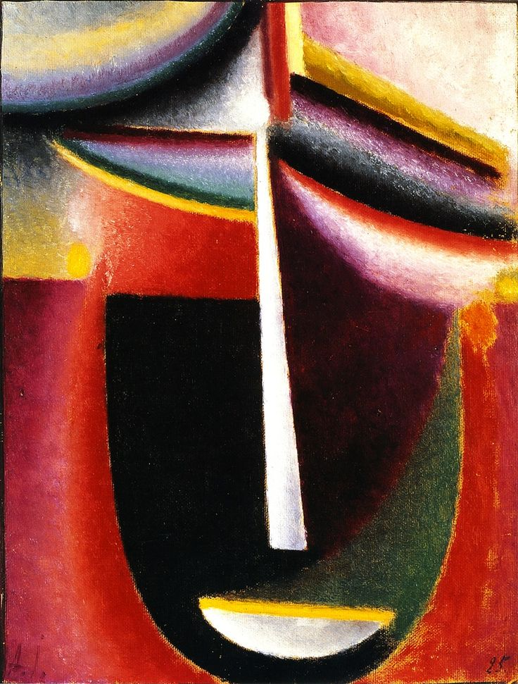 Alexej von Jawlensky (Russian 1864-1941) [Expressionism] Abstract Head: Mysterium, 1925.
