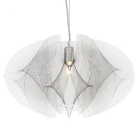 Litecraft Spiro 1 Light Ceiling Pendant - Chrome- at Debenhams.com