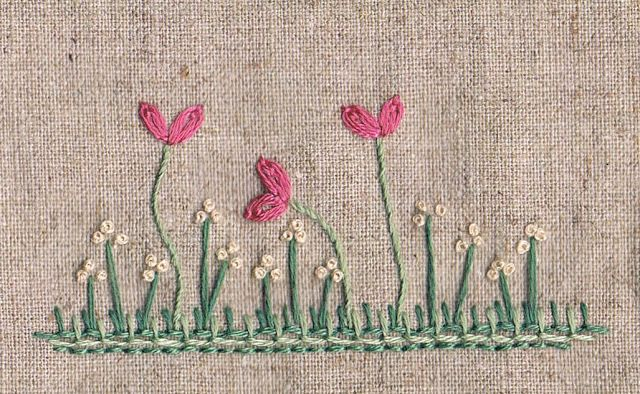 'Stitch Love' Free and very, very simple embroidery design