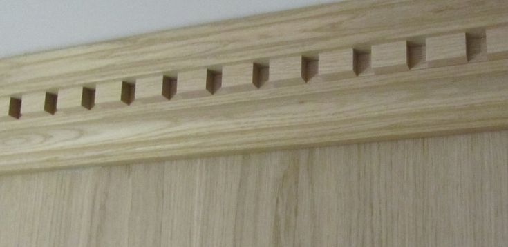 Dentil Oak Cornice Coving Panelling Products Decor