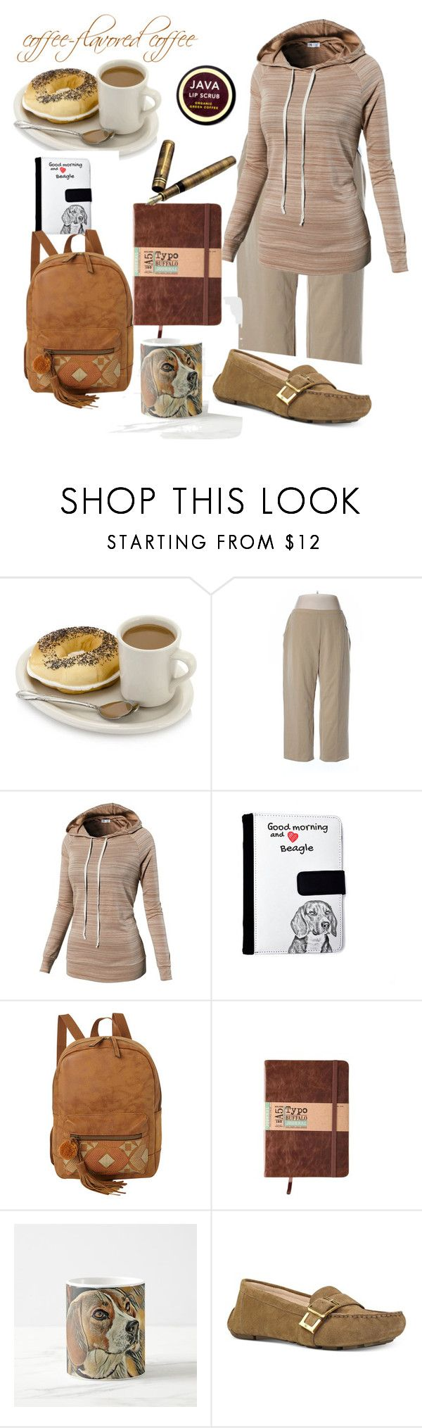 """""""Coffee-flavored Coffee"""" by magno504 ❤ liked on Polyvore featuring L.L.Bean, T-shirt & Jeans, Waterman, Nine West, Java and plus size clothing"""