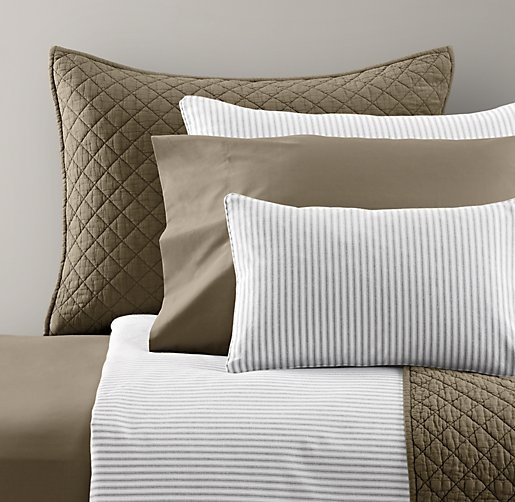 Henley Stripe & European Vintage-Washed Percale Bedding Collection   Bedding Collections   Restoration Hardware Baby & Child