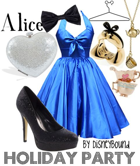 Pretty dress!: Inspiration Outfits, Holidays Parties, Parties Outfits, Wonderland Parties, Alice In Wonderland, Disney Inspiration, Disneybound, Disney Bound, Disney Fashion